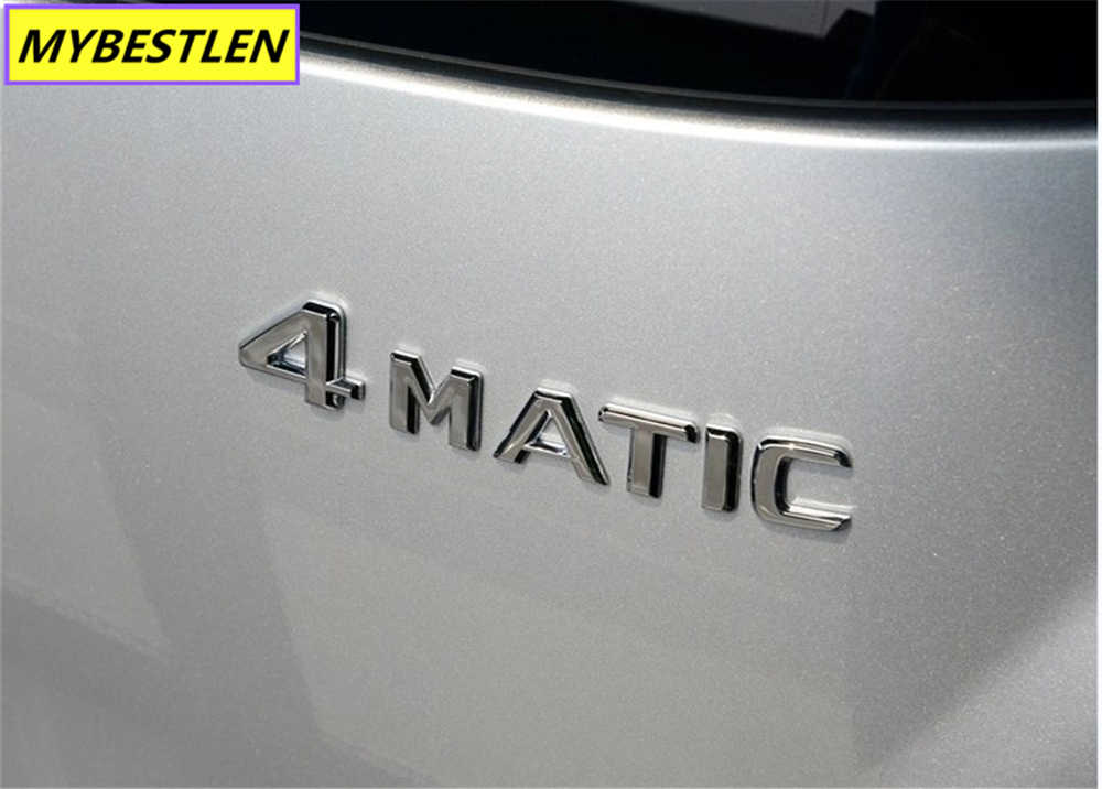 3D Métal 4 Matic 4 Matic Automatique voiture Côté Coffre Emblème Chrome Badge Logo Autocollants De Voiture pour Mercedes Benz ML GLK W124 W210 C CL CLS R