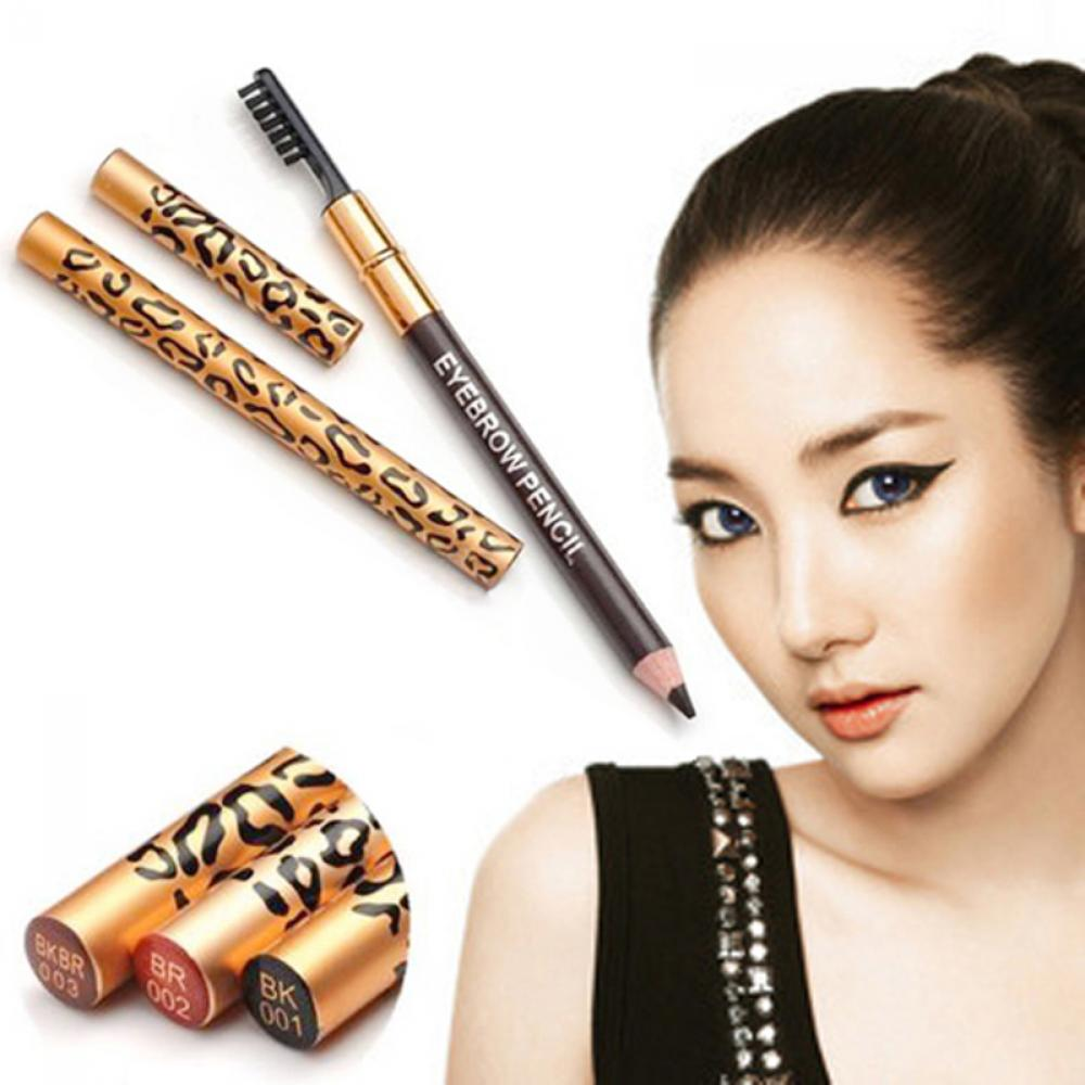 1 PC Leopard Women Eyebrow Pencil Waterproof