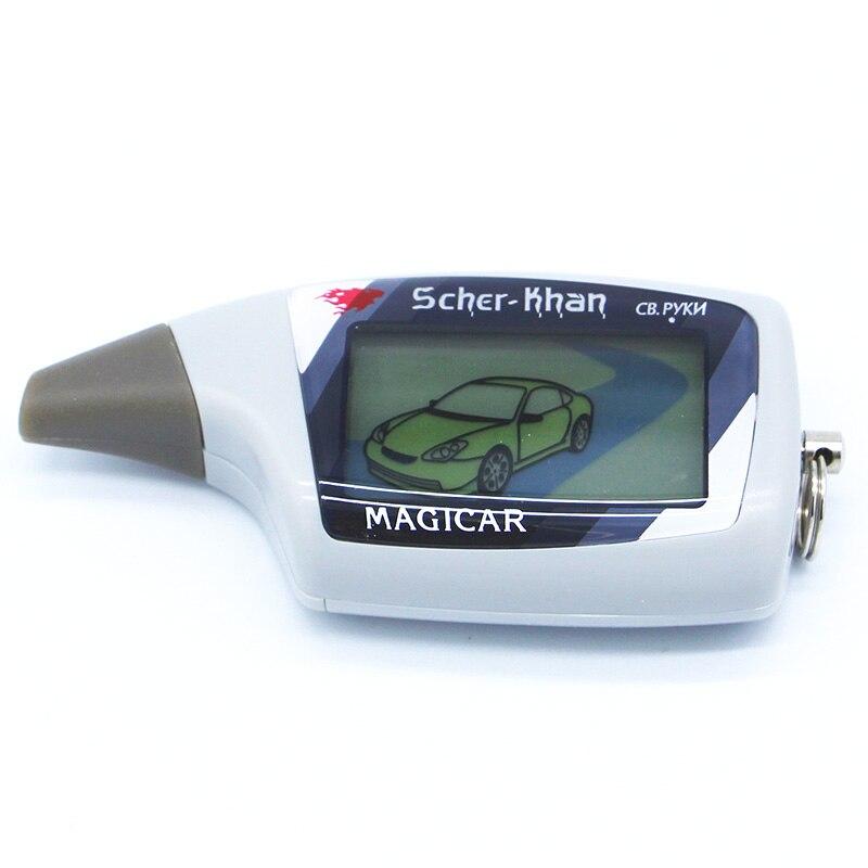Scher Khan M5 Scher-khan M5 Magicar 5 keychain LCD zweiwegautowarnungssystem system neue fernbedienung/fm transmitter