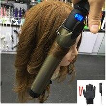 Профессиональные щипцы для завивки волос, керамические щипцы для завивки, ЖК дисплей, 38 мм/32 мм/28 мм/25 мм/22 мм/19 мм, 110 В 240 В