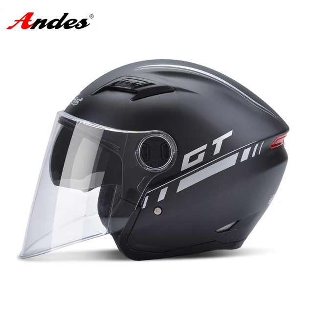 Andes Motorcycle Helmet Unisex Scooter Motocross Helmet Summer Windproof UV Protection Flip Up 2 Visors Moto Helmet Casco