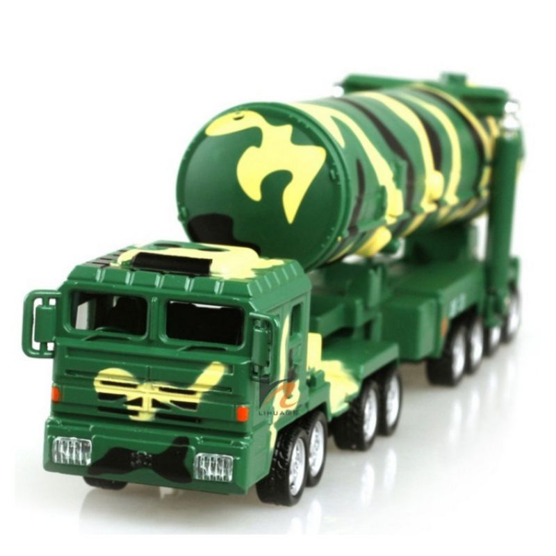 Kids Children Alloy Die-Cast Model Toy Chinese Amy Military DF-31A Intercontinental Ballistic Missile Launch Tatical Vehicle Car