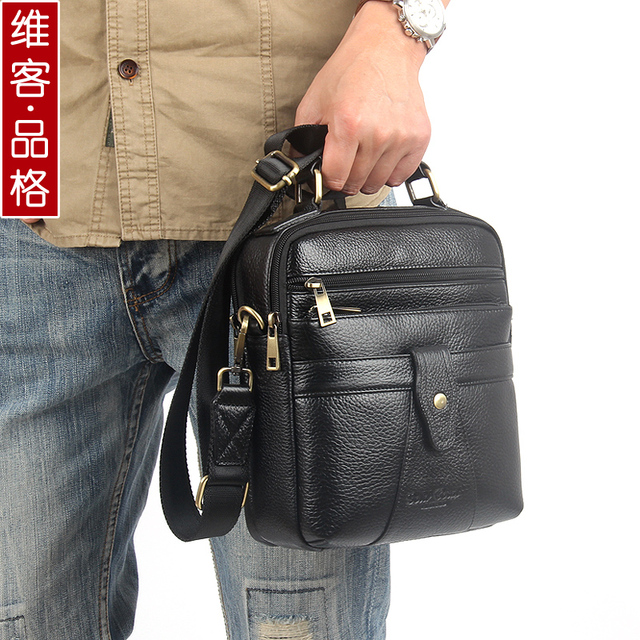 02efbc29932 100% genuine leather messenger bags for men small crossbody Famous brand  men fashion casual shoulder bag male handbags-in Crossbody Bags from  Luggage ...