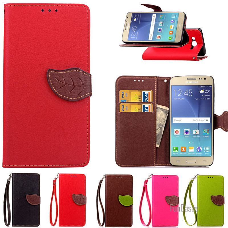 J3 Leather Flip Case for Samsung Galaxy J3 J300F J300 J320 J3000 Luxury Wallet Card Holder Case For Samsung J3 Phone Bag Cover ]