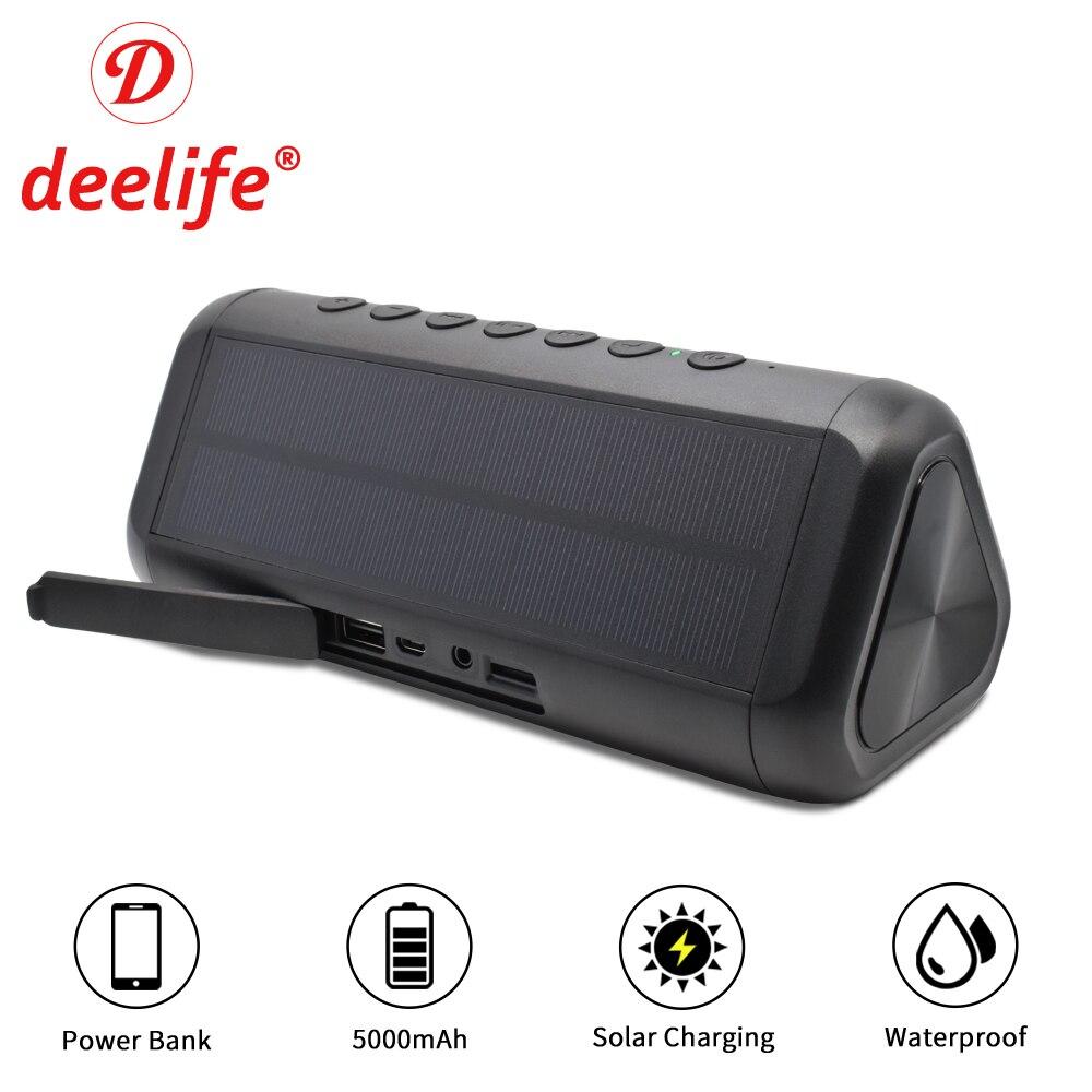 Étanche Bluetooth haut-parleur Portable colonne batterie Portable solaire haut-parleurs extérieurs sans fil Bluetooth haut-parleur stéréo boîte à musique