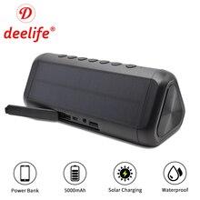 Водонепроницаемый Bluetooth динамик Портативная колонка солнечная батарея внешний динамик s беспроводной Bluetooth громкий динамик стерео Музыкальная Коробка