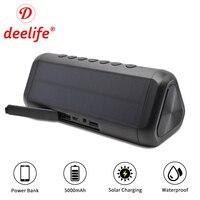 Waterproof Bluetooth Speaker Portable Column Solar Power Bank Outdoor Speakers Wireless Blutooth Loudspeaker Stereo Music Box