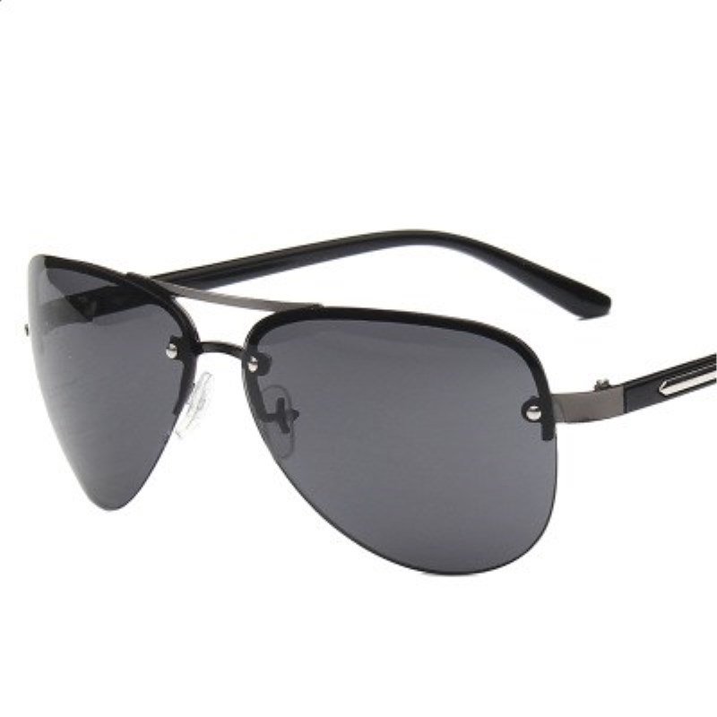Men 39 s Sunglasses Brand Designer Pilot Rimless Male Sun Glasses Eyeglasses gafas oculos de sol masculino For Men Shades SR107 in Men 39 s Sunglasses from Apparel Accessories