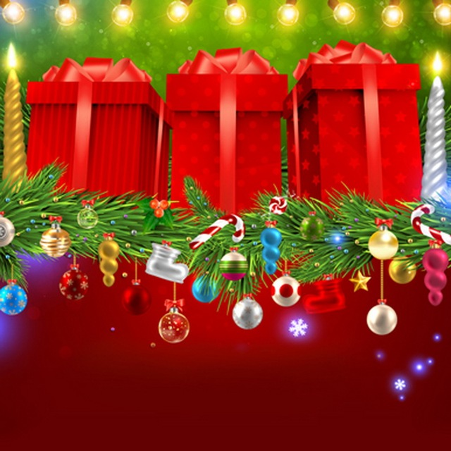 2017 new christmas gifts box background for kids photography