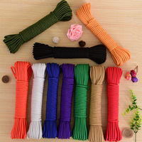 4mm multi function colored braided rope  outdoor clothesline  home spare rope Ropes     -