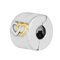Fits for Pandora bracelet Hearts Aglow Clip New Original 925 sterling Silver jewelry DIY beads making charms wholesale