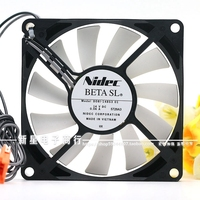 Nidec D081 14BS3 DC 14 V0.06A 80x80x15mm 2 Wire Server Cooler Fan