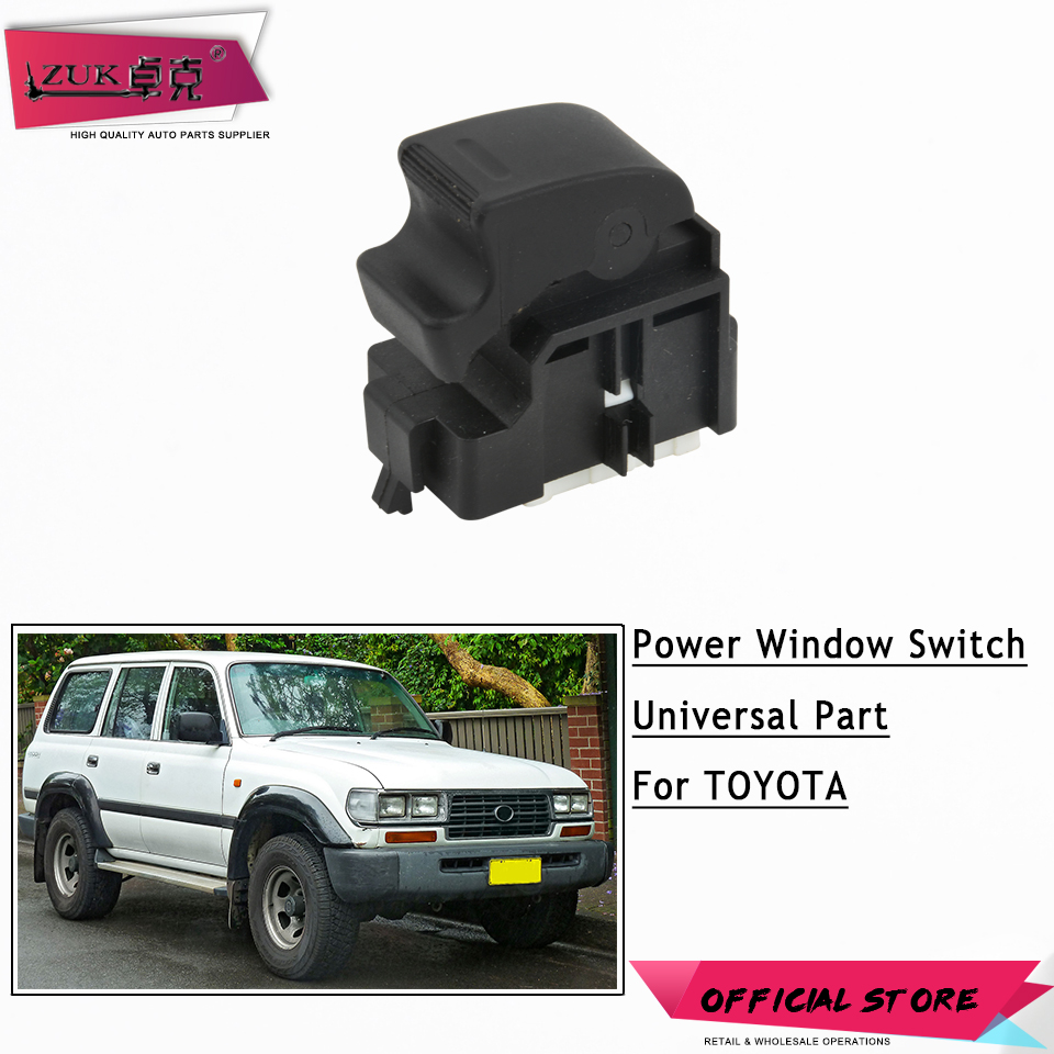 ZUK Power Master Window Switch For <font><b>Toyota</b></font> STARLET TERCEL PASEO COROLLA MR2 CAMRY HILUX <font><b>4RUNNER</b></font> HIACE LAND CRUISER 84810-32070 image