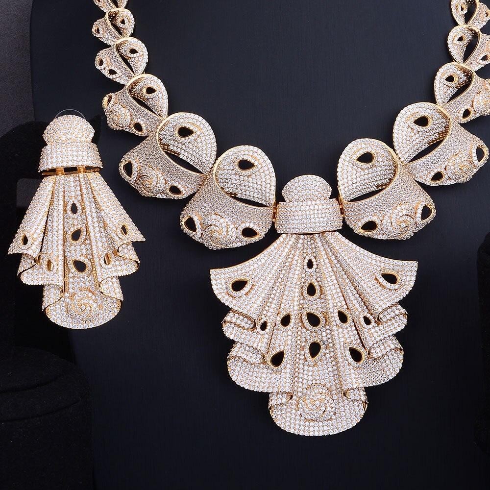 GODKI Luxury AAA Cubic Zirconia African Indian Necklace Earring Set Bangle Ring bridal jewelry sets For Women Engagement WeddingGODKI Luxury AAA Cubic Zirconia African Indian Necklace Earring Set Bangle Ring bridal jewelry sets For Women Engagement Wedding