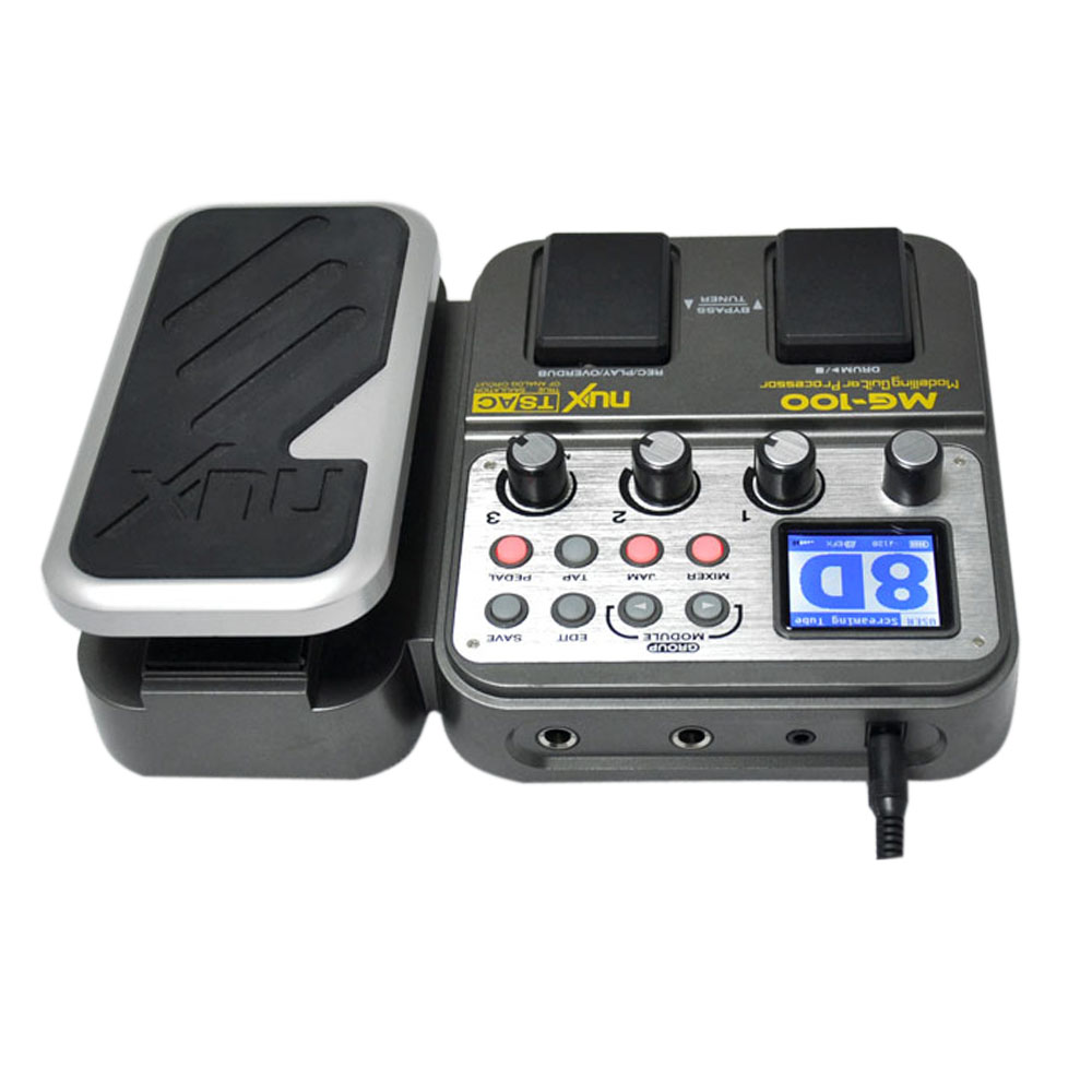 High Quality NUX MG 100 Modeling Guitar Processor Guitar Effect Pedal Drum Tuner Recorder 58 Effect