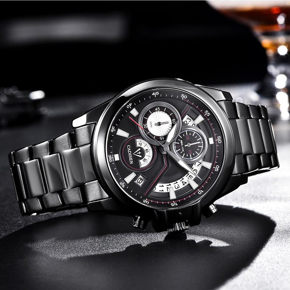 CADISEN Heren business horloge Top militair merk Casual Fashion luxe - Herenhorloges - Foto 3