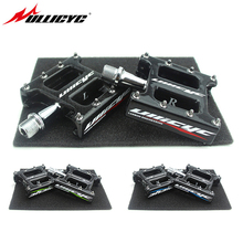 цены 2019 ULLICYC Cr-Mo Axle Ultra-Light 3K Carbon Body Bicycle Pedals T800 carbon Mountain Bike Pedals Road/MTB 2 Bearings JT001