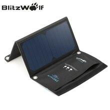 Blitzwolf 15 Вт Солнечный Мощность банк Портативный Dual USB Зарядное устройство солнечный Панель мобильного телефона Зарядное устройство 2A универсальный для Iphone для Samsung