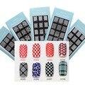 3D uñas de arte belleza manicura herramientas de bricolaje pegatinas para uñas 20 diseño hueco pegatinas plantilla Stencil JH306