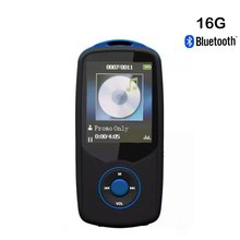 Newest Sport Bluetooth MP3 Player 16GB Hifi Lossless Sound with FM Radio (Easy to operate) Support up to 64GB Micro SD Card-Blue