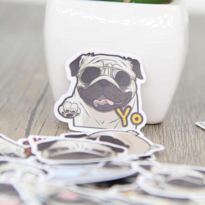 40 sztuk mops mops cute zwierząt naklejki bagaż deskorolki graffiti naklejki do stylizacji samochodu i laptopa rower zabawki DIY Scrapbooking