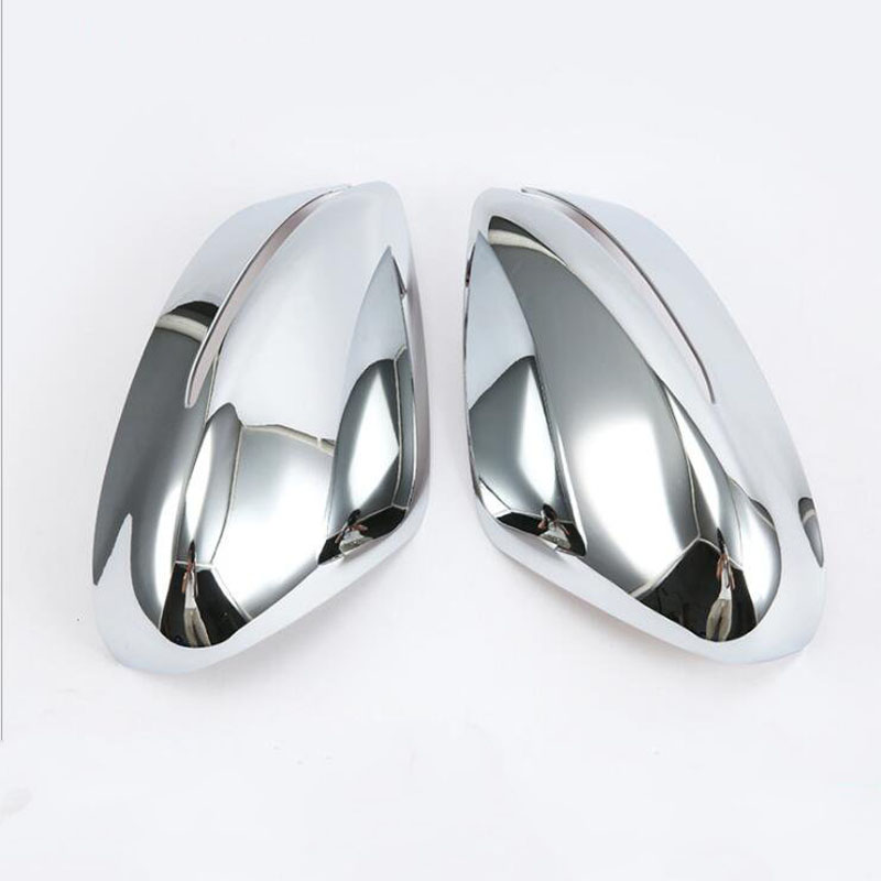 2PCS ABS Chrome For Nissan Kicks 2017 Car Side Door Rearview Mirror Protect Frame Cover Trims Car Styling|Chromium Styling| |  - title=