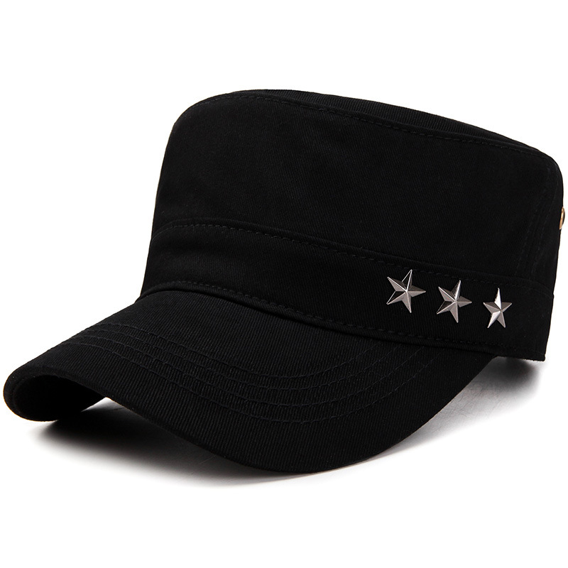 2019 Flat-top Canvas Baseball Cap Color Block Vintage Military Unisex Hat Tennis Caps Racquet Sports
