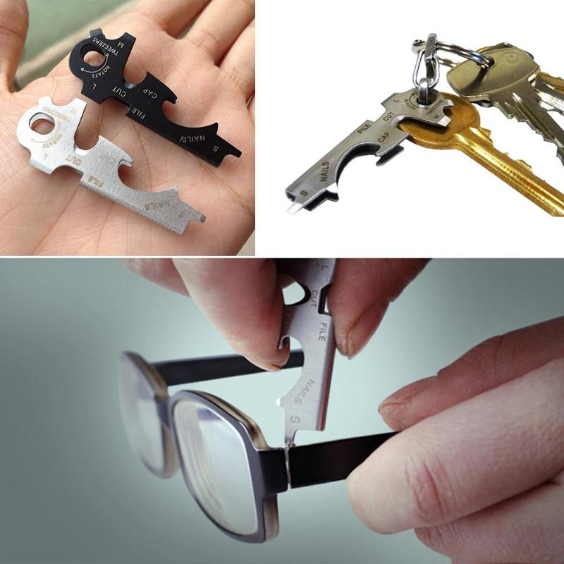 8 in 1 Multitools EDC Stainless Steel Multi-function Pocket Tool Keychain Outdoor Survival Gear Gadget emergent Pocket Tool(China)