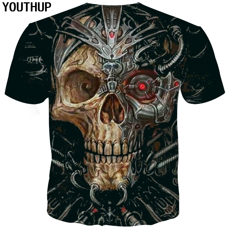 YOUTHUP 2018 Harajuku hombres camiseta Rose del cráneo impresión 3d camisetas  hombres Hip Hop camisetas frescas del verano Masculino streetwear más tamaño b5d862ff6a3