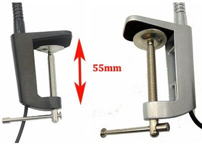 110V 220V 10W Led Flexible Pipe Desk Lamp With Clamp in Desk Lamps from Lights Lighting