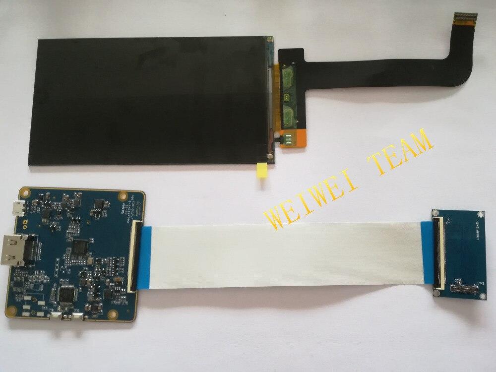 LS055R1SX03 5,5 zoll 2 karat LCD modul 2560*1440 LCD screen display mit HDMI zu MIPI controller board für WANHAO D7 ersatz