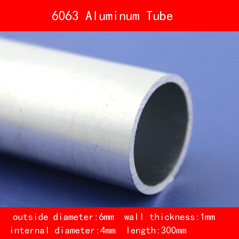 external diameter 6mm internal diameter 4mm wall thickness 1mm Length 300mm 6063 Aluminium Tube AL Pipe D6*D4*300MM external diameter 5mm internal diameter 3mm wall thickness 1mm length 300mm 6063 aluminium tube al pipe d5 d3 300mm