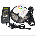 DC12V SMD 5050 RGB Led Strip 60led/m Led Light Flexible Tape 5M 10M 15M 20M+RF Touch Remote Controller+Power Adapter Supply