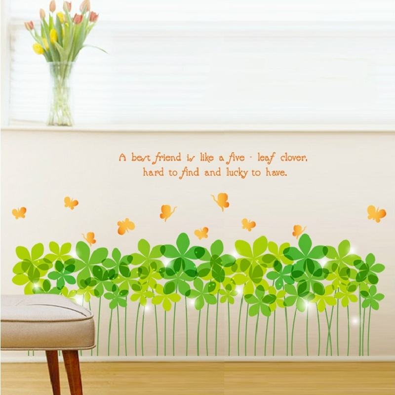 2018 new arrival decorative wall stickers rural scenery grass kickline removable bath room decor sticker mural DIY art poster ...