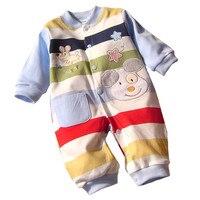 2017 طفل الوليد بيبي الملابس الجسم القصير طويلة الأكمام الرضع bebes طفل الملابس وزرة القطن الكرتون رومبير
