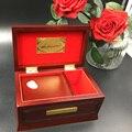 Edición de 18 tonos, caja de música de Lien, madera maciza de haya de madera Original, cajas de música de Lilium para regalo de Navidad de la muchacha del amor