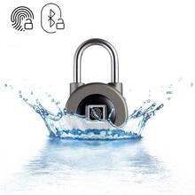 חכם Bluetooth מנעול טביעת אצבע וטלפון APP נעילה עמיד למים IP66 אבטחת מנעול דלת עבור מטען/ארון/מגירה/ אופני M3
