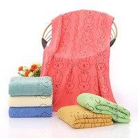 1 stücke 70*140 cm Kaninchen Muster Weichen Badetuch für Erwachsene Kinder Haar Hand Handtücher badlaken toalla Toallas Mano 42206