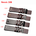 New high quality 22mm 24mm 26mm 28mm 30mm Mens Watch Band Brown Genuine Leather Strap Stainless Steel Buckle