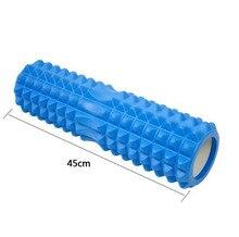 Новинка 2017 45 см сетки Foam Roller Фитнес Пилатес EVA пены Йога ролик для мышечные боли тренажерный зал пены роликовый массаж