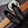 Весенние Девушки Brand Shoes for Baby Шпилька Shoes Детей Кожаные Сандалии Малышей Летняя Обувь Черный Белый Квартиры Партия Обуви