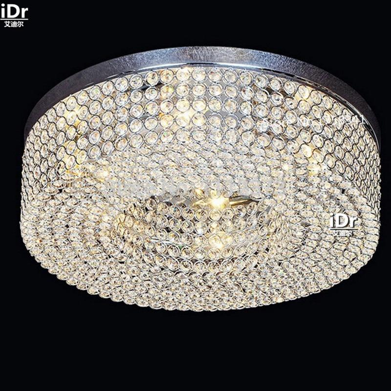 все цены на Simple modern circular living room lights the hall corridor lamp crystal lamp bedroom lamp LED Ceiling Lights Rmy-0513