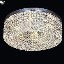 Простой современный круговой гостиной огни коридор лампа зал кристалл лампы спальня лампа LED Потолочные Светильники Rmy-0513