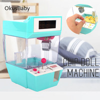 2018 Newest Coin Operated Candy Grabber Doll Candy Catcher Crane Machine + Alarm Clock Board Game Party Fun Toys