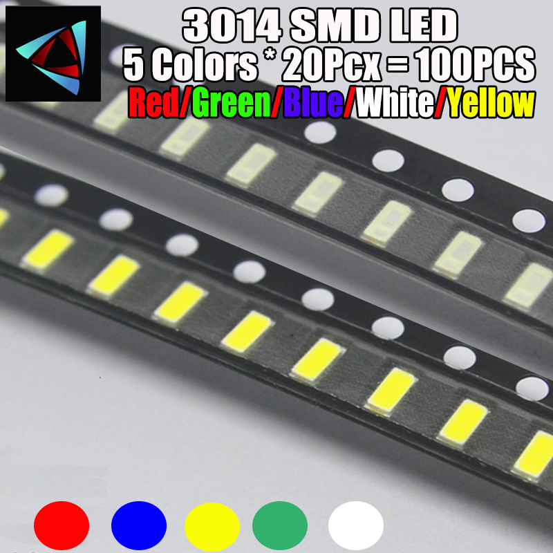 Electronic Components & Supplies 100pcs X 3020 Ice Blue Red Jade Green Warm White Yellow Pink Ultra Bright Smd Led Indication Special Summer Sale Active Components