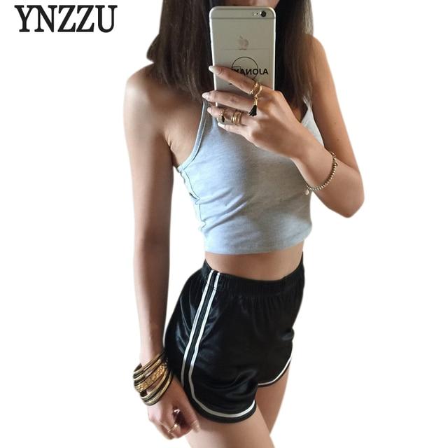YNZZU New Women Shorts Casual satin Short Pants black red spring summer Femme Short Feminino Pantalones Cortos Mujer YB056