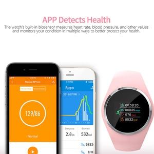 "Image 2 - SCOMAS النساء ساعة ذكية 0.96 ""LCD ضغط الدم مراقب معدل ضربات القلب الإناث الفسيولوجية تذكير IP67 مقاوم للماء Smartwatch"