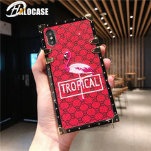 Fashion Luxury Embroidery Lattice Flamingos Case for iPhone 7 8 6 6S Plus X XR XS MAX samsung S8 S9 S10 plus Note 8 Note 9 cover multifunction woven pattern zipper wallet case for samsung note 10 8 9 s8 s9 s10 plus s10e for iphone xs max xr x 6 6s 7 8 plus