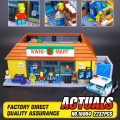 New LEPIN 16004 2232Pcs the Simpsons Action Figures Model Building Block Bricks Compatible 71016 Boy gift
