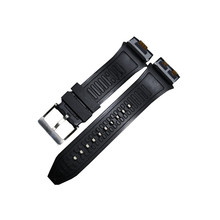 for LG Urbane 2 LTE w200 Watch in Black White Watchband Watch Strap Plastic Rubber Straps
